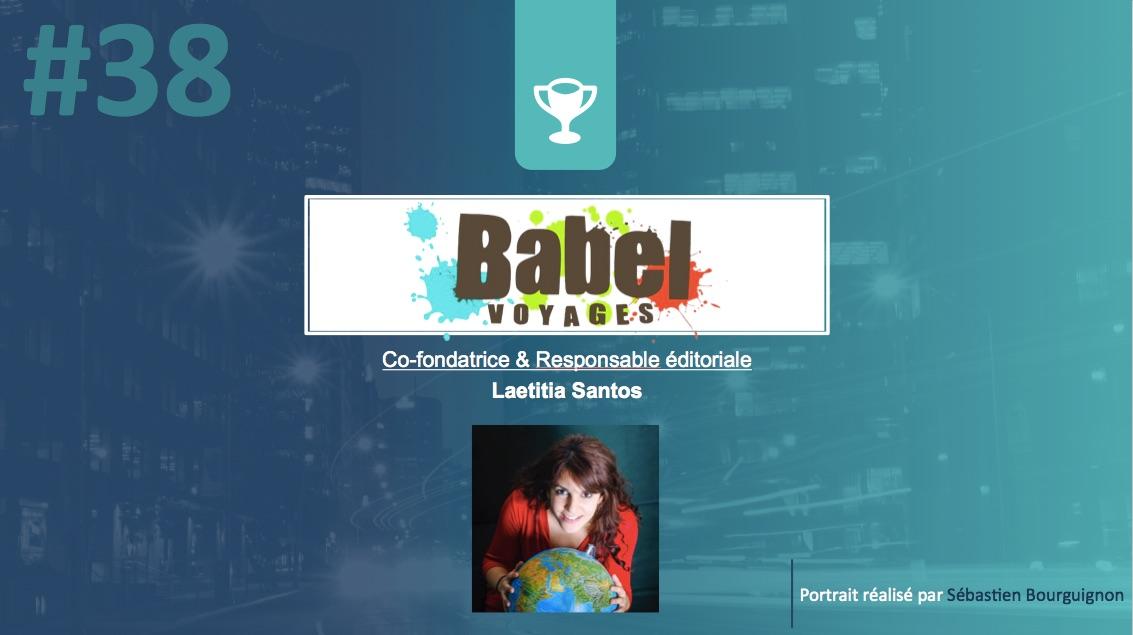 Portrait de startuper #38 – Babel-voyages – Laetitia Santos - par Sébastien Bourguignon