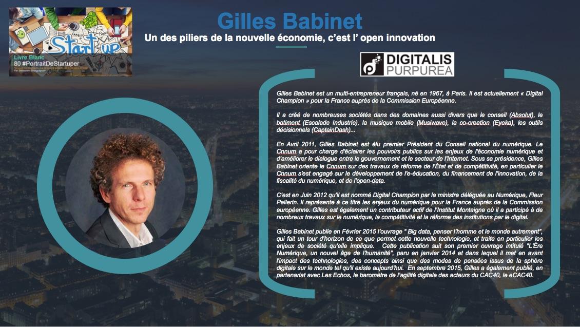 Gilles Babinet - L'un des piliers de cette nouvelle économie c est l open innovation - Extrait Livre Blanc 80 #PortraitDeStartuper - par Sebastien Bourguignon