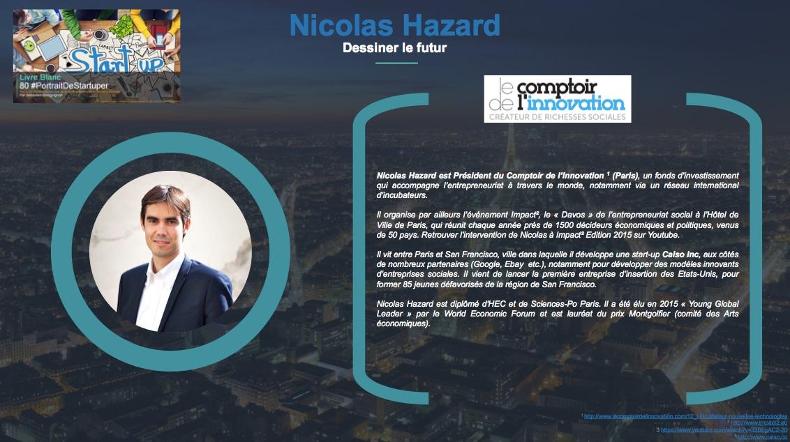 Nicolas Hazard - Dessiner le futur - Extrait Livre Blanc 80 #PortraitDeStartuper - par Sebastien Bourguignon