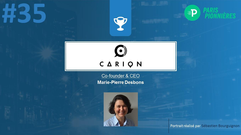 Portrait de startuper #35 - Carion - Marie-Pierre Desbons - par Sébastien Bourguignon