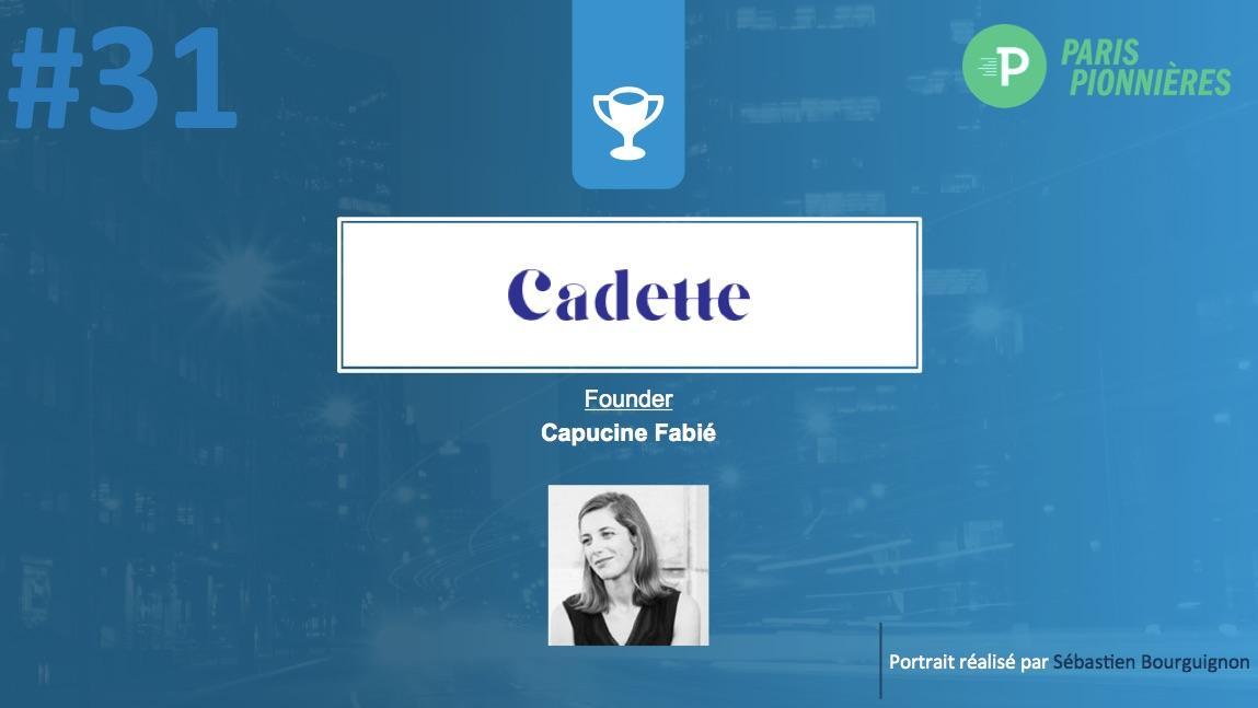 Portrait de startuper #31 - Cadette - Capucine Join-Lambert - par Sébastien Bourguignon