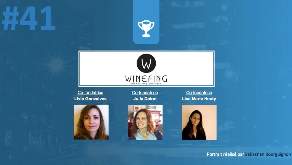 Portrait de startuper #41 - WineFing - Livia Gonzalves & Julie Dolon & Lisa Marie Heuty - par Sébastien Bourguignon