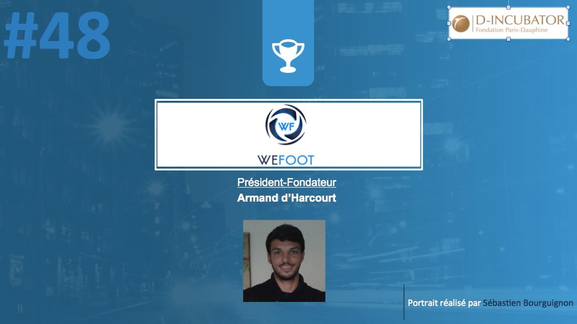 Portrait de startuper #48 - WeFoot - Armand d'Harcourt - par Sébastien Bourguignon