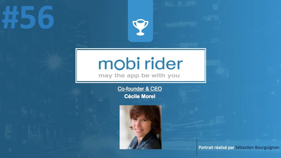 #PortraitDeStartuper #56 - Mobi Rider - Cécile Morel - par Sébastien Bourguignon