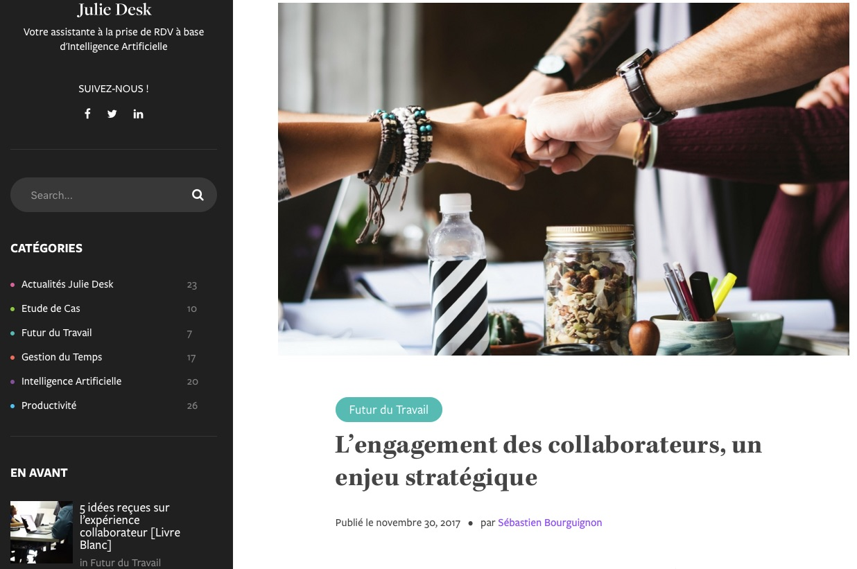 l'engagement des collaborateurs