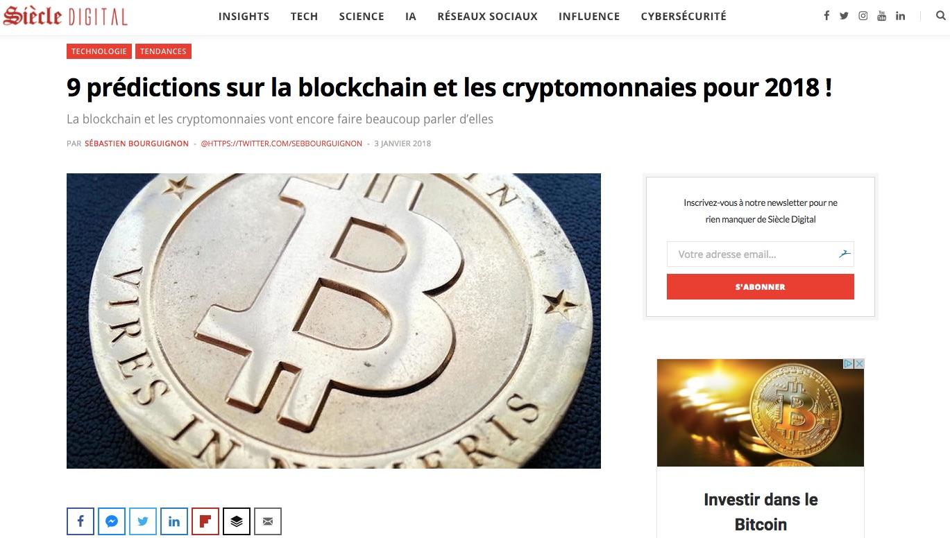 prédictions sur la blockchain