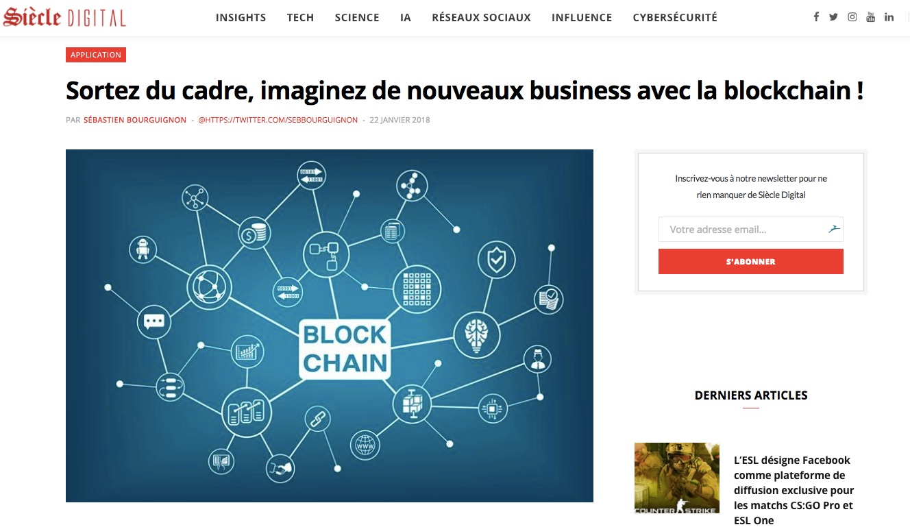 business avec la blockchain