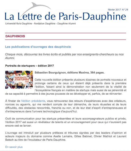 lettre de paris dauphine