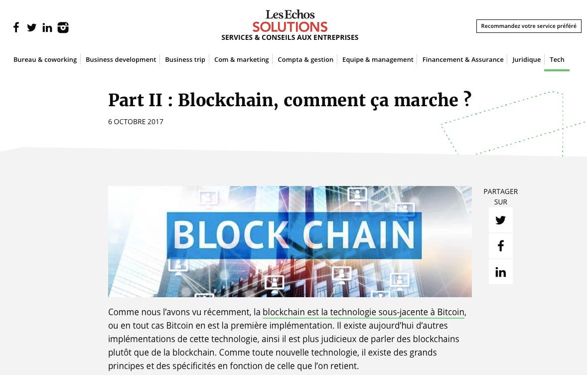 blockchain, comment ça marche