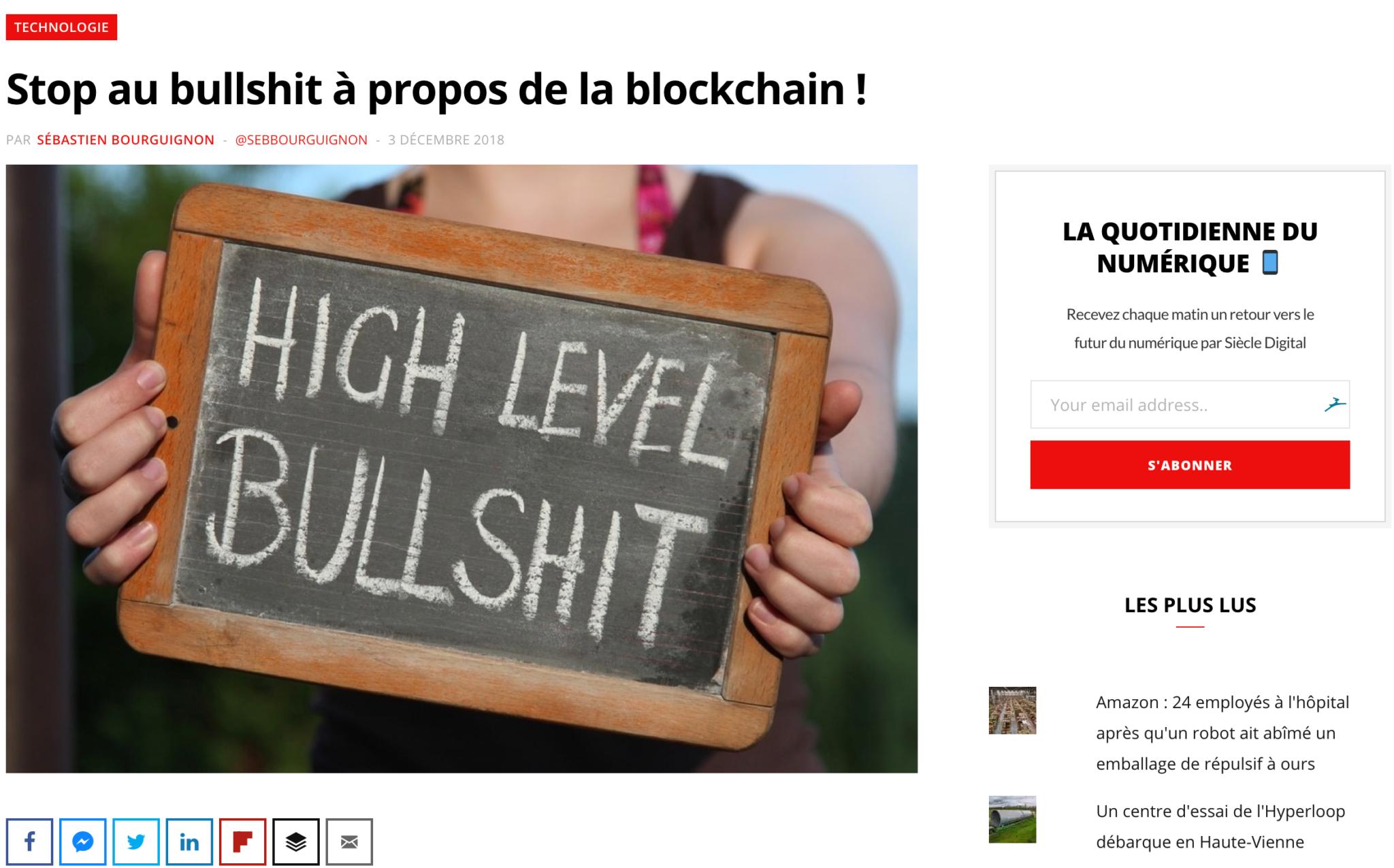 bullshit blockchain
