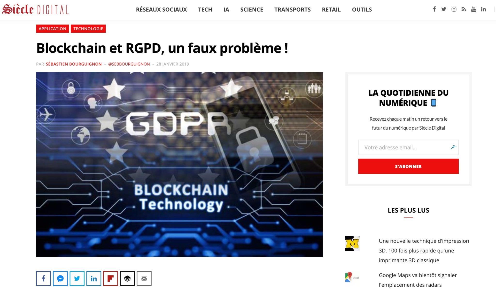 blockchain et rgpd