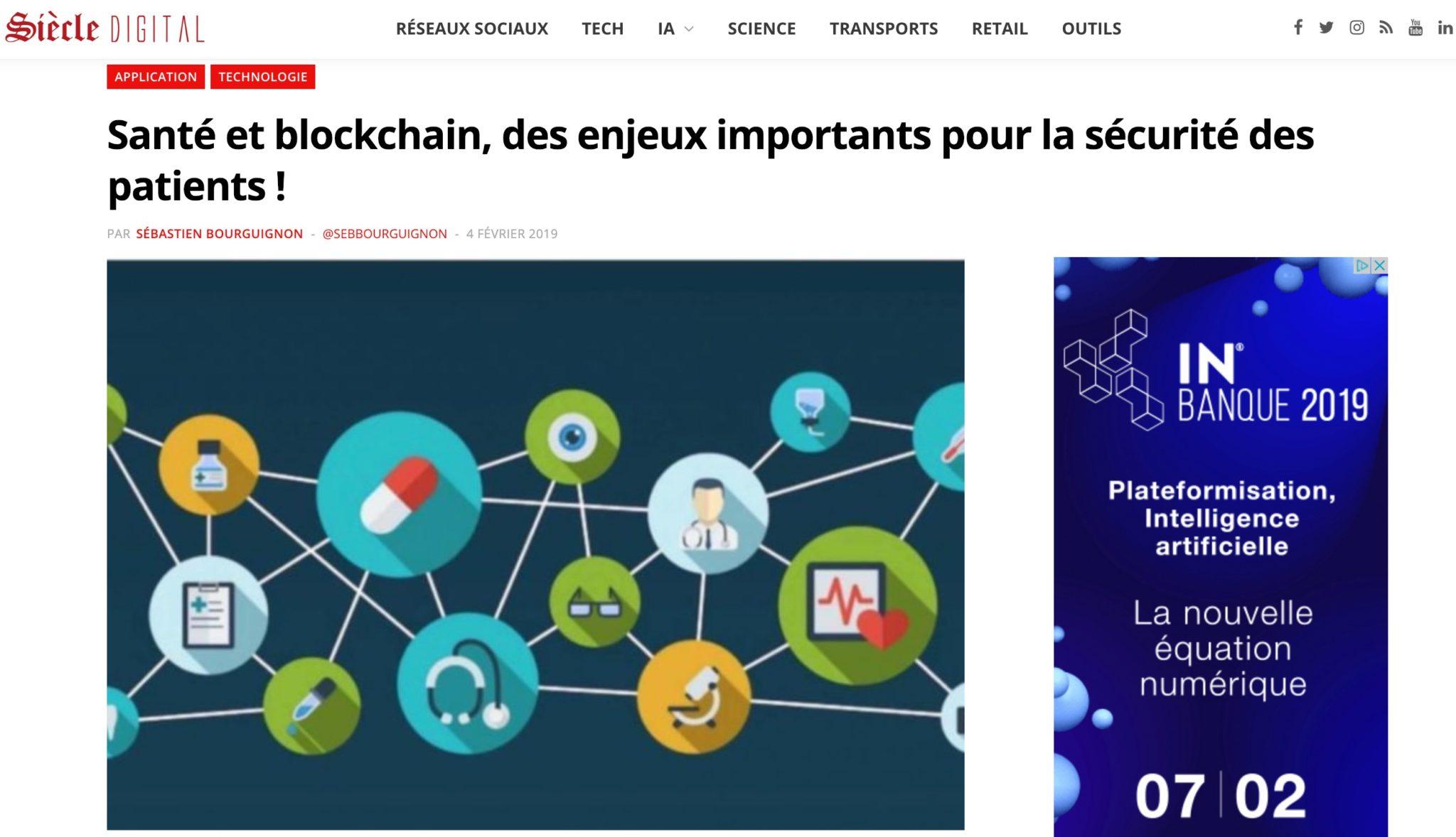 santé blockchain